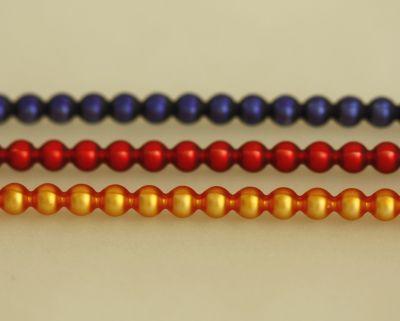 Rauta 5 mm - matná směs barev (12 ks, 24 perlí na klaučeti)