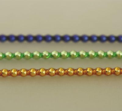 Rauta 4 mm - lesk směs barev (12 ks, 30 perlí na klaučeti)