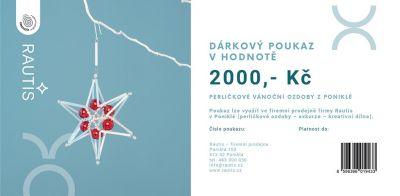 Dárkový poukaz - 2000