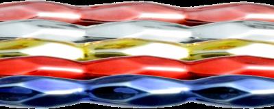Oves 12 mm - lesk směs barev (12 ks, 9 perlí na klaučeti)