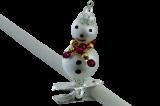Vánoční ozdoba Sněhuláček na skřipci