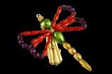 Vánoční ozdoba Vážka na skřipci