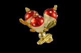 Vánoční ozdoby Muchomůrky na skřipci