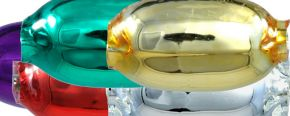 Žalud 11 mm - lesk směs barev (30 ks)
