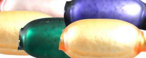 Žalud 11 mm - matná směs barev (30 ks)