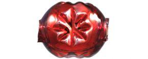 F343 Kamínek s kytičkou - lesk červená (30 ks)