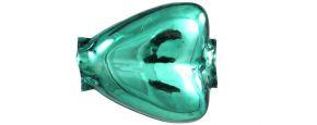 F200 Srdce - lesk zelená (12 ks)