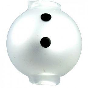 Malované perle 20 mm- tělo sněhuláka - (3 ks)