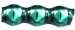 Rauta  trojánek 4 mm - lesk zelená (60 ks)