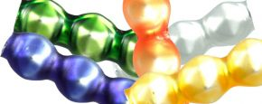 Rauta  trojánek 4 mm - matná směs barev (60 ks)