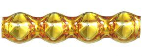 Rauta čtveránek 4 mm - lesk žlutá (60 ks)