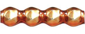 Rauta čtveránek 4 mm - lesk oranžová (60 ks)