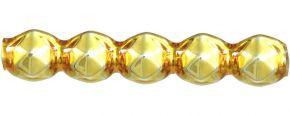 Rauta pateránek 4 mm - lesk žlutá (60 ks)