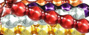 Rauta pateránek 4 mm - lesk směs barev (60 ks)