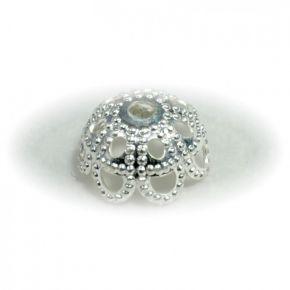 Kaplík krajkový - stříbrný 10 ks