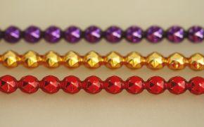 Rauta 8 mm - lesk směs barev (6 ks, 15 perlí na klaučeti)
