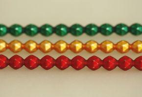 Rauta 8 mm - matná směs barev (6 ks, 15 perlí na klaučeti)