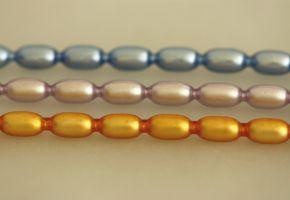 Žalud 11 mm - matná směs barev (6 ks, 10 perlí na klaučeti)