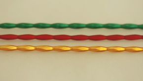 Ječmen - matná směs barev (12 ks, 9 perlí na klaučeti)