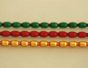 Žalud 7 mm - matná směs barev (12 ks, 16 perlí na klaučeti)