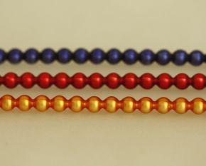 Kulatá 5 mm - matná směs barev (12 ks, 24 perlí na klaučeti)