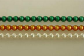 Kulatá 6 mm - matná směs barev (6 ks, 20 perlí na klaučeti)