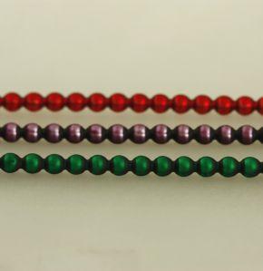 Kulatá 4 mm - matná směs barev (12 ks, 30 perlí na klaučeti)