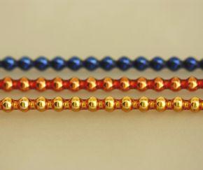 Rauta 5 mm - lesk směs barev (12 ks, 24 perlí na klaučeti)