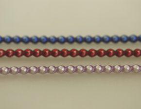 Rauta 4 mm - matná směs barev (12 ks, 30 perlí na klaučeti)