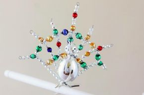 Vánoční ozdoba Páv na skřipci