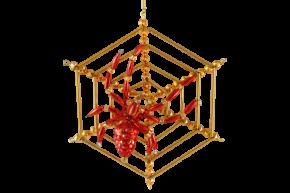 Vánoční ozdoba Pavouk v pavučině