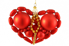 Vánoční ozdoba Srdíčko