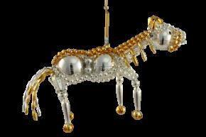 Vánoční ozdoby Kůň Zlatohřívák