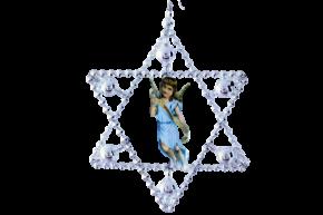 Vánoční ozdoba Hvězda s obrázkem