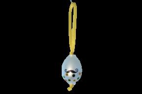 Vajíčko s knírem a puntíky