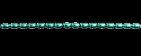 Žalud 7 mm - lesk zelená (12 ks, 16 perlí na klaučeti)