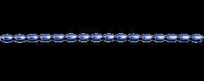 Žalud 7 mm - lesk modrá (12 ks, 16 perlí na klaučeti)